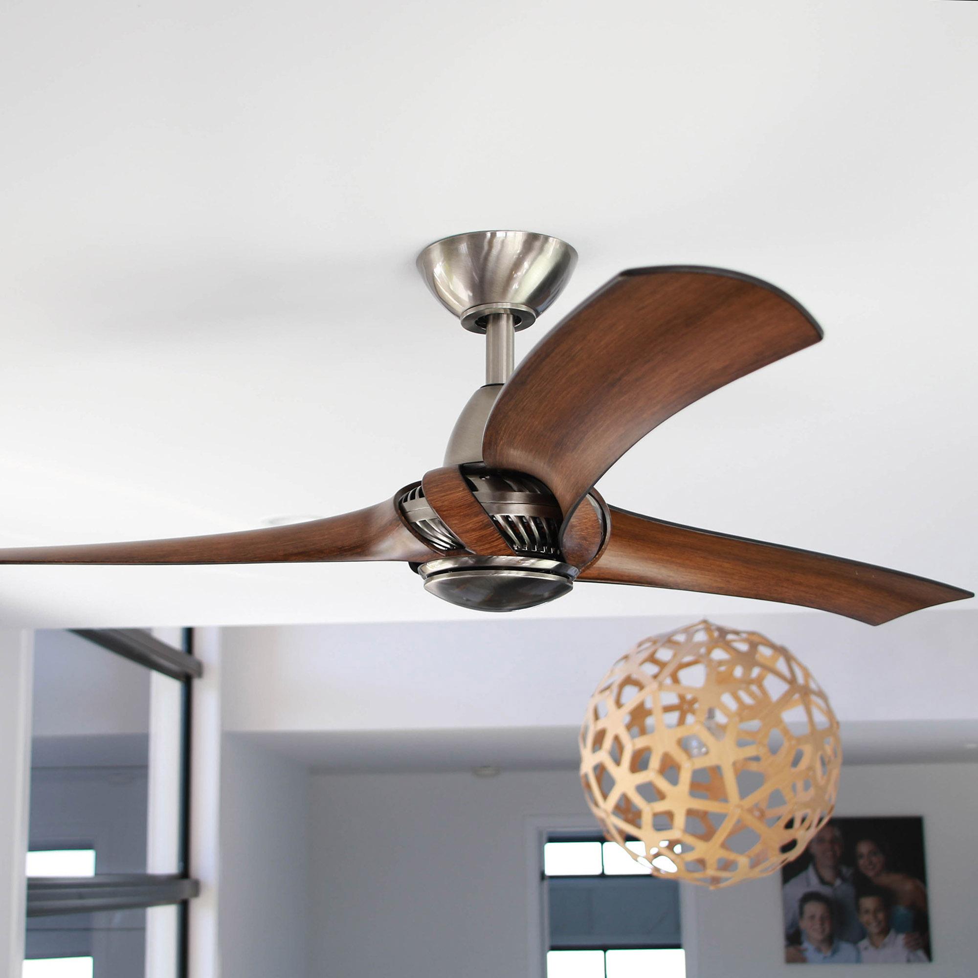 Arumi Ceiling Fan Pewter Koa
