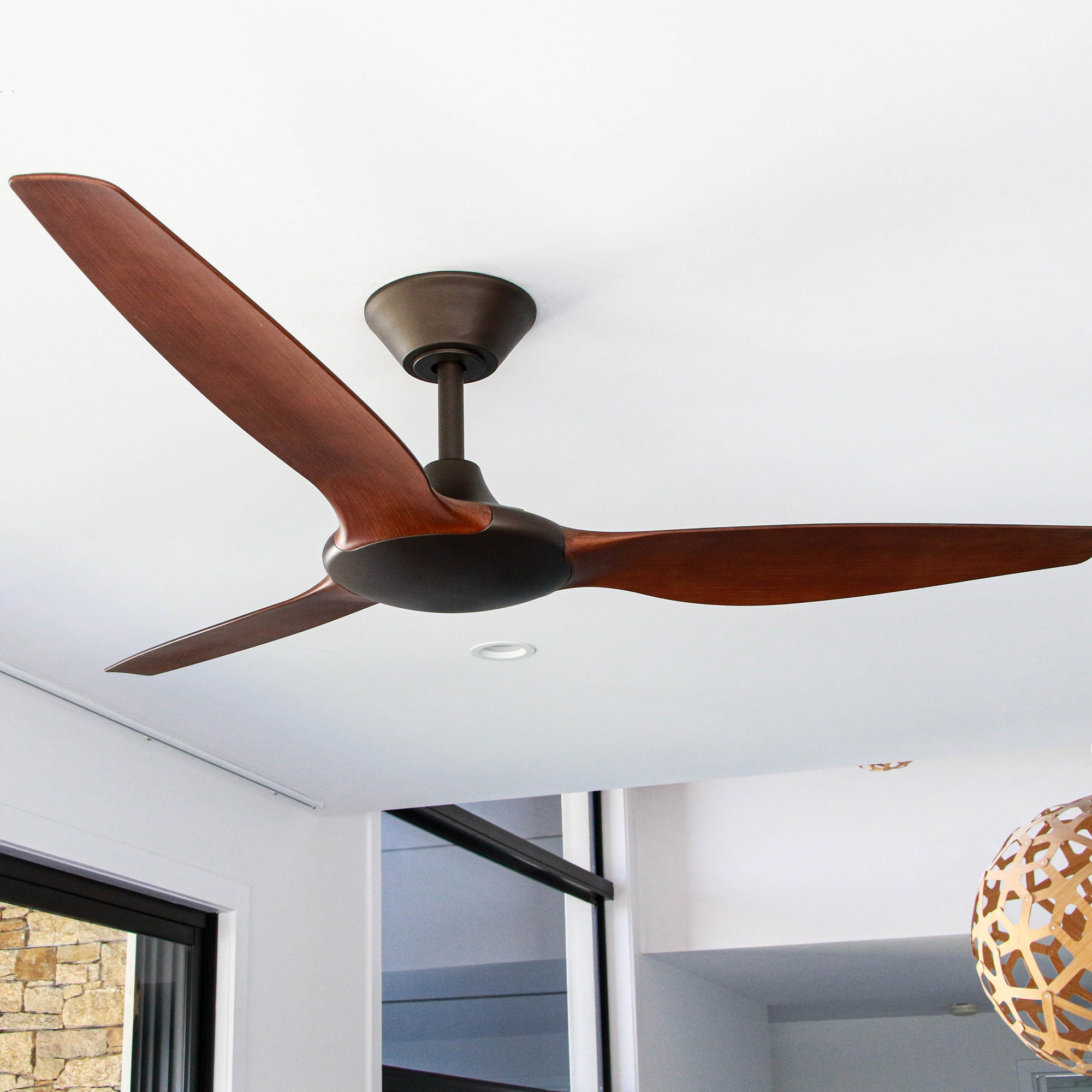"""56"""" Delta DC Ceiling Fan in Oil-rubbed Bronze"""