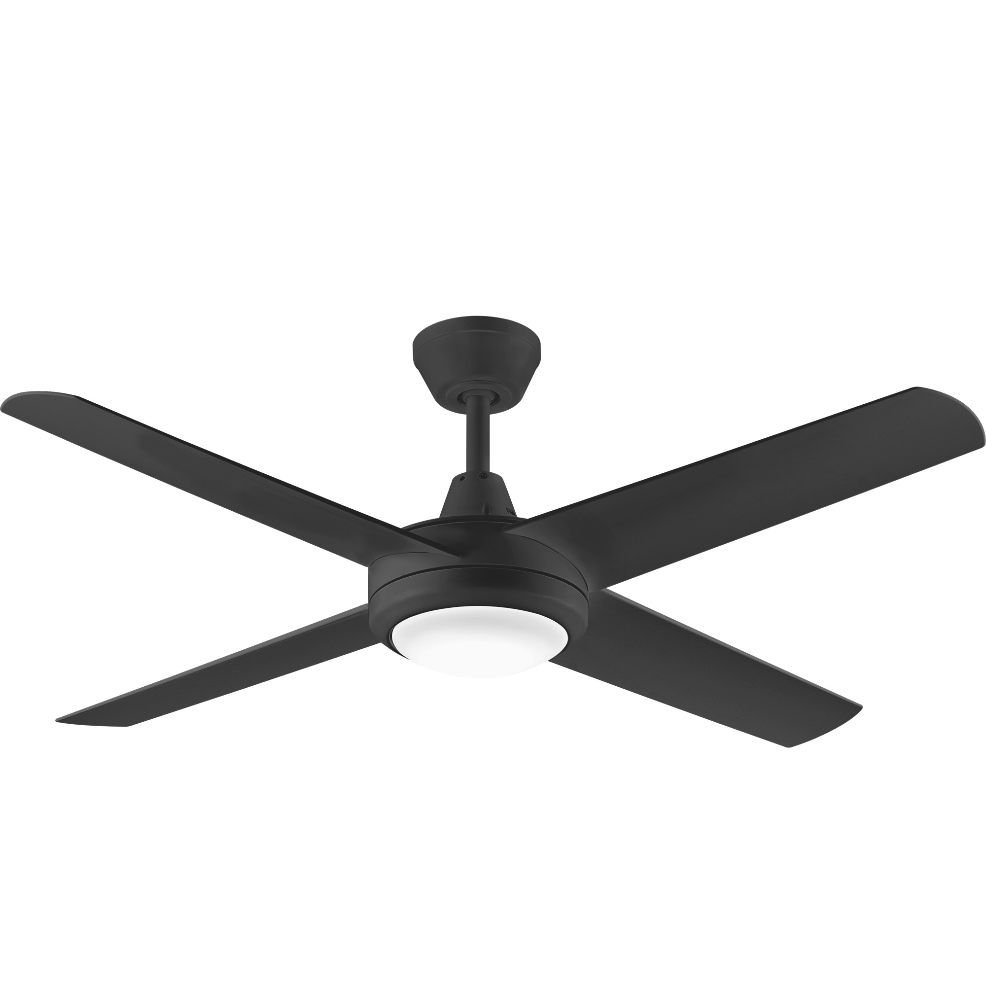 """52"""" Aspire Ceiling Fan in Black with 18W Dimmable LED Light"""