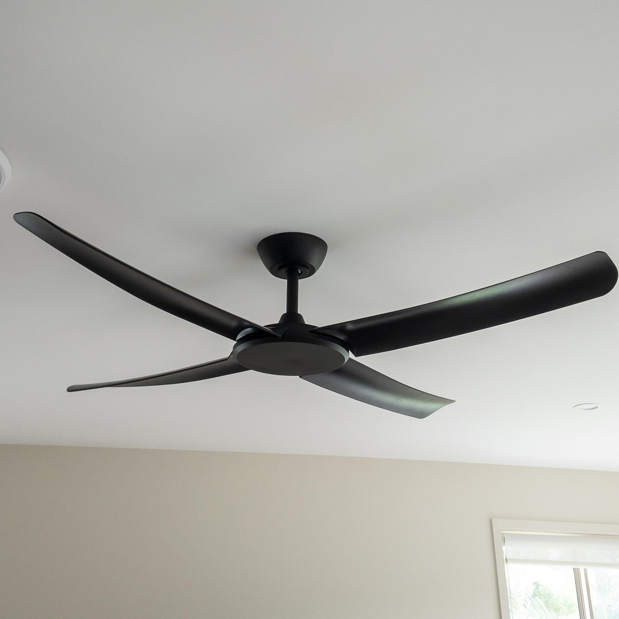 FlatJET Ceiling Fan Black