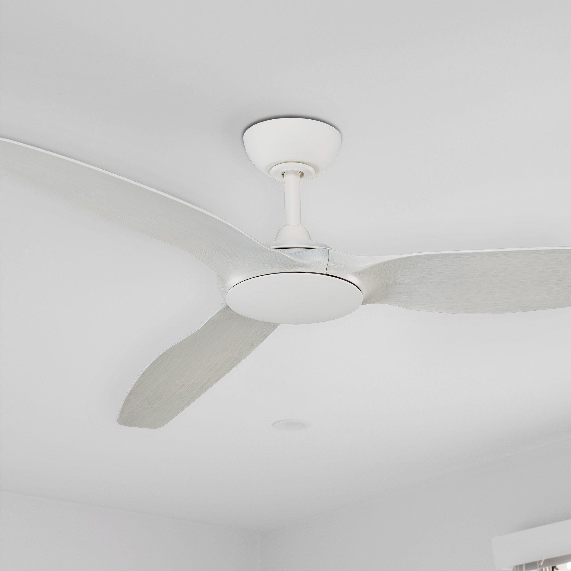 Flume Ceiling Fan White Wash