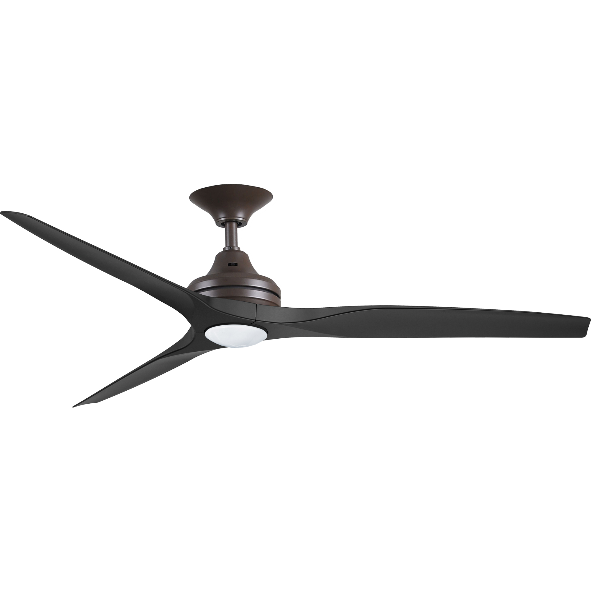 """60"""" Spitfire ceiling fan in Oil-rubbed Bronze with Black polymer blades and LED Light Kit"""