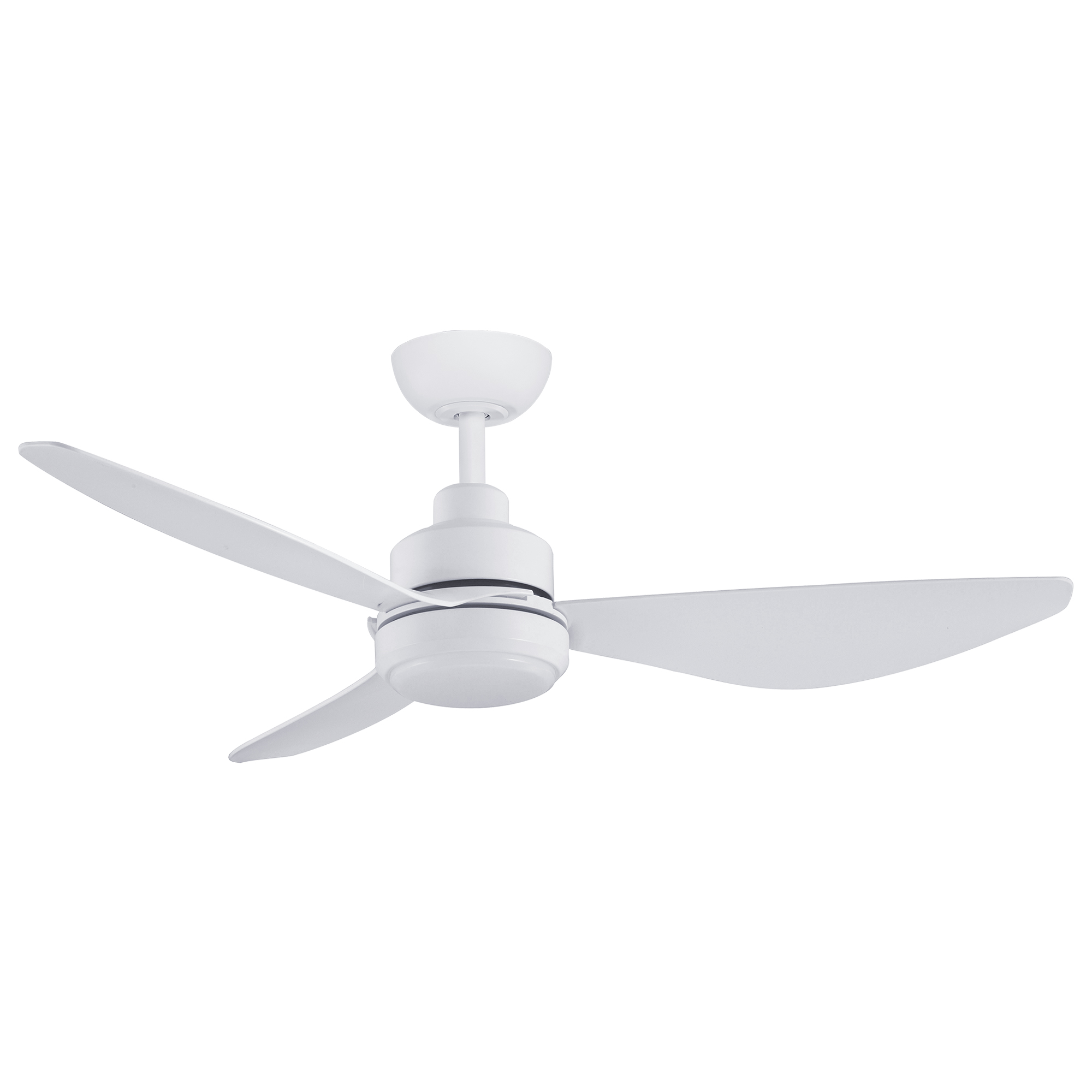 """48"""" Trinity DC Ceiling Fan in Matte White with 20W LED Light"""