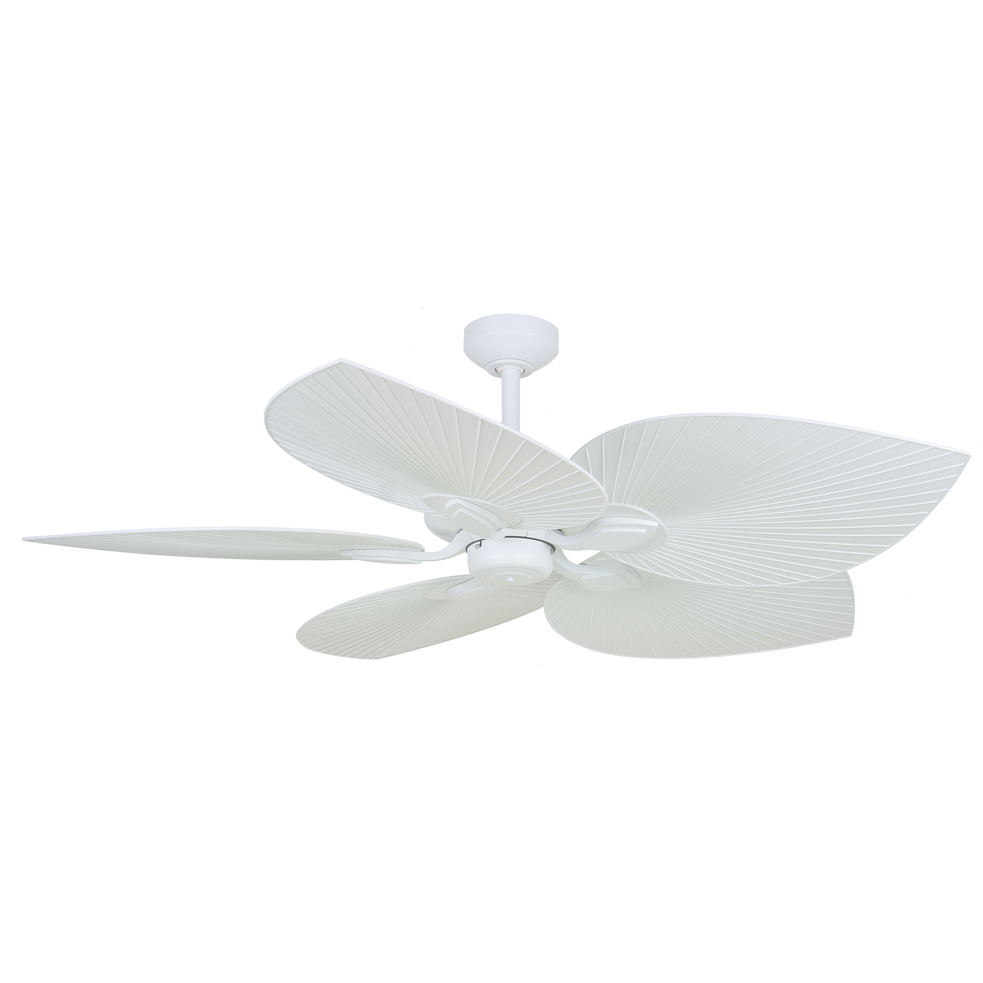 """54"""" Tropicana Ceiling Fan in Matte White with Palm White polymer blades"""