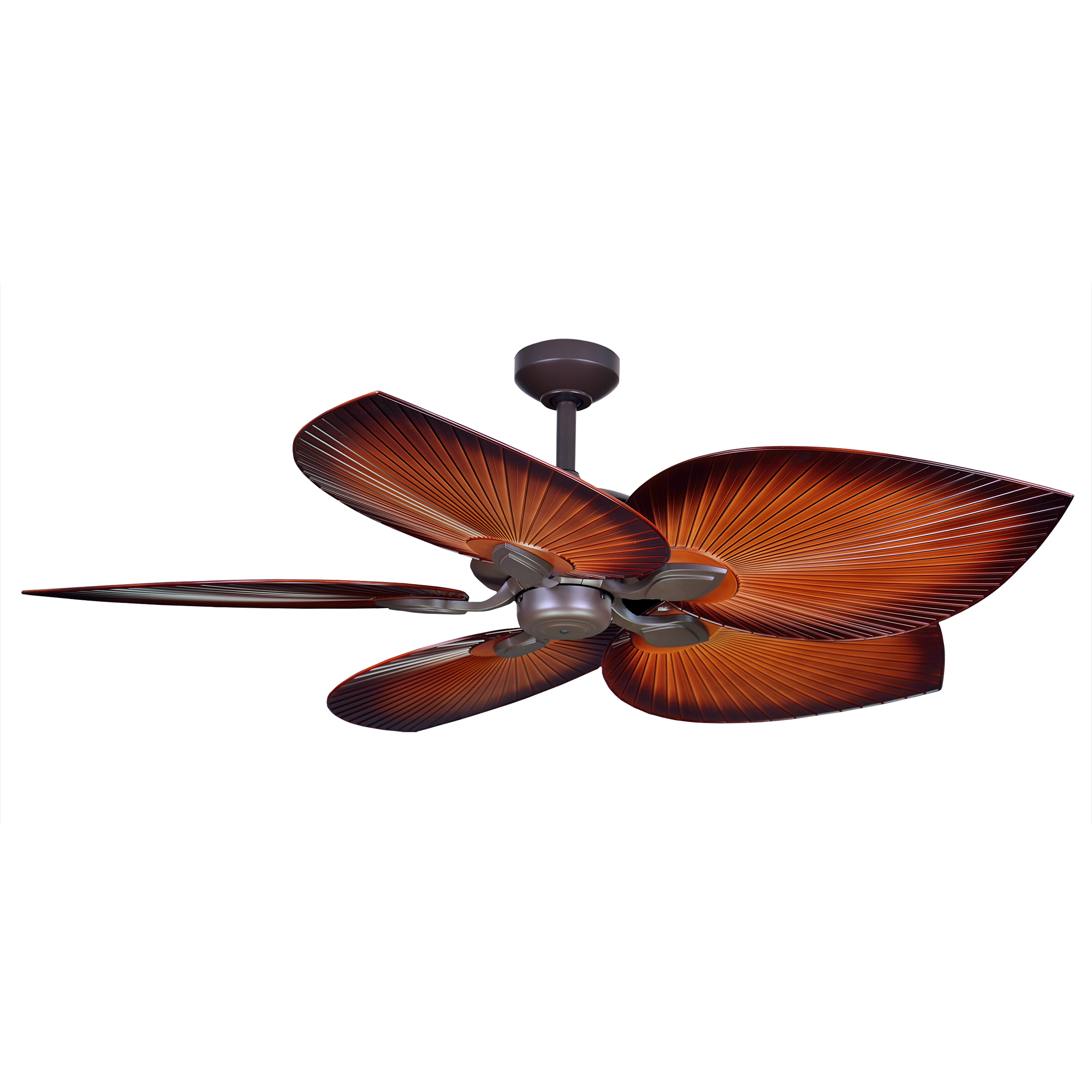 """54"""" Tropicana Ceiling Fan in Oil-rubbed Bronze with Palm Brown polymer blades"""