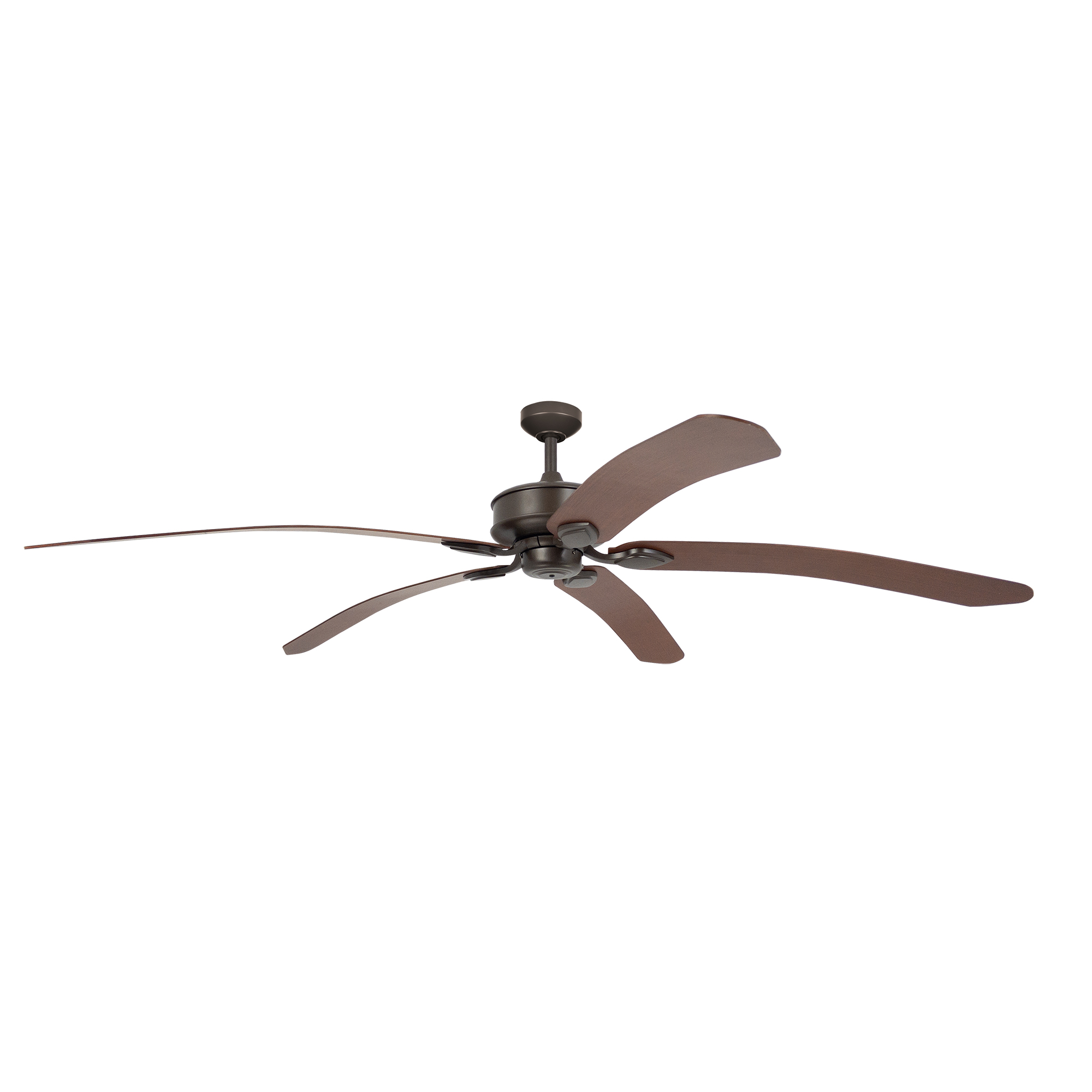 """72"""" Tropicana Ceiling Fan in Oil-rubbed Bronze with Walnut blades"""