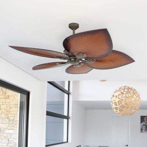 Tropicana 54 Ceiling Fan Bronze Brown