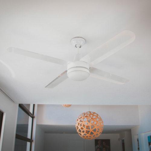 Velocity Ceiling Fan White LED Light
