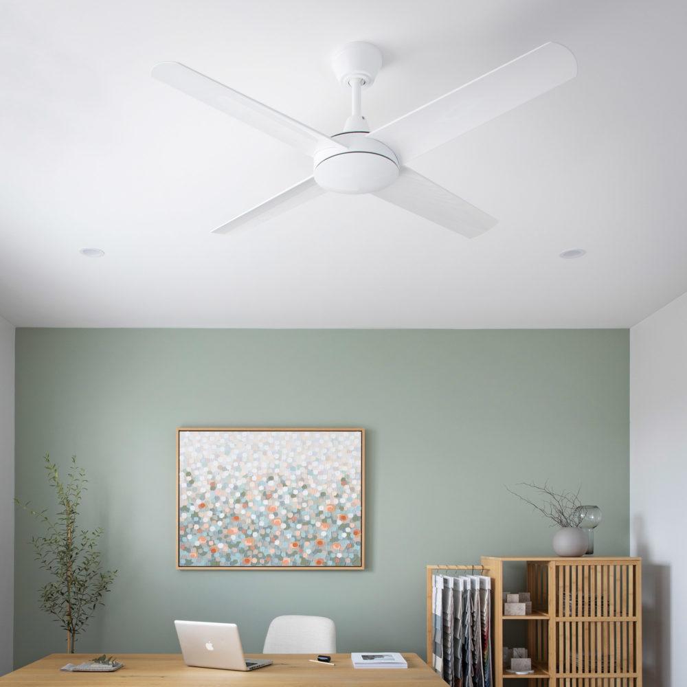 Aspire Ceiling Fan White 2 Square