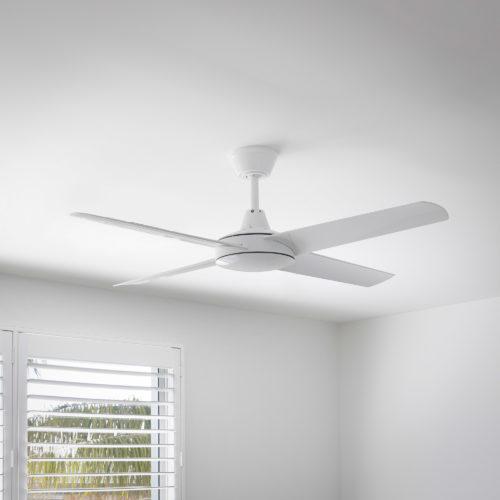 Aspire Ceiling Fan White 3 Square