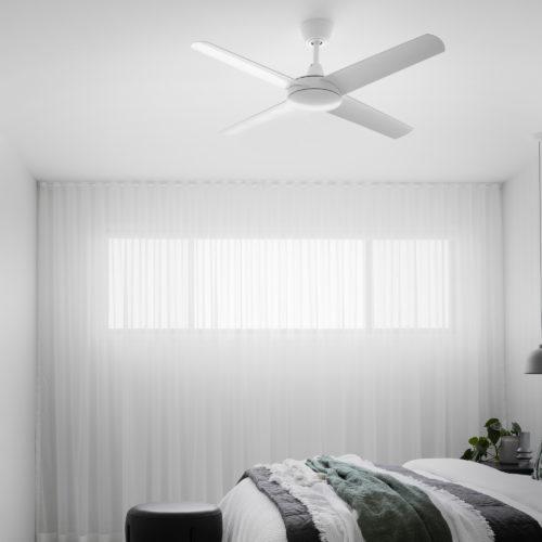 Aspire Ceiling Fan White 4 Square