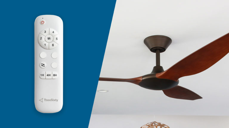Delta DC ceiling fan includes a 6-speed remote control