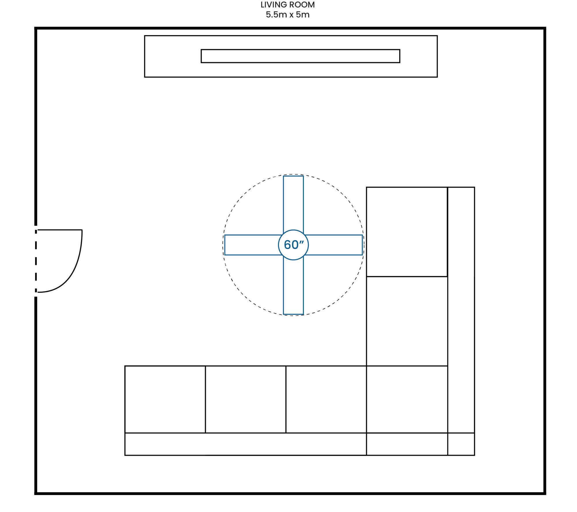 Living Room 550 500 60F