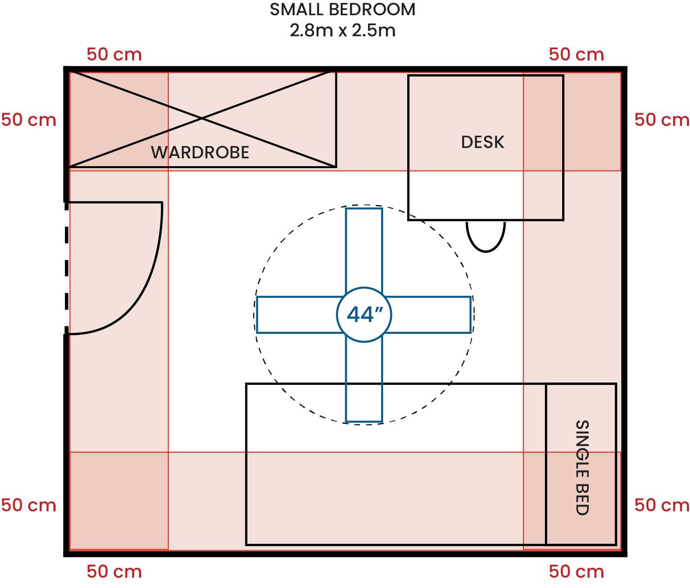 Small Bedroom 280 250 44F G
