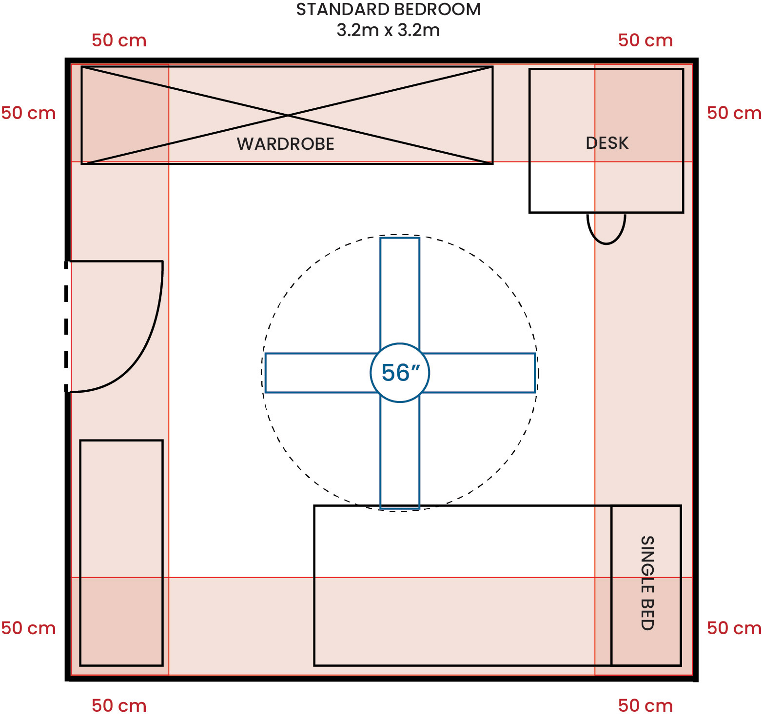 Standard Bedroom 320 320 56F G
